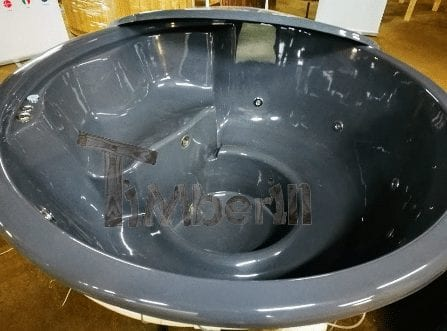 Fiberglass liner hot tub 180 cm with a child seat