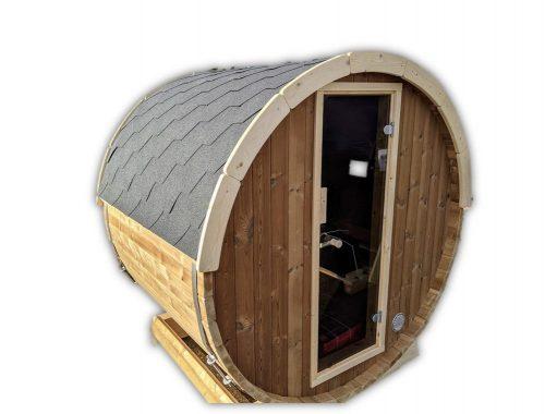 Outdoor barrel sauna mini small 2 4 persons thermo wood main