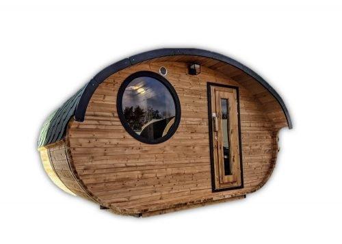 Outdoor woodden garden sauna v3