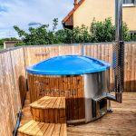 Fiberglass Lined Hot Tub With Integrated Burner Thermo Wood [Wellness Royal] (3)