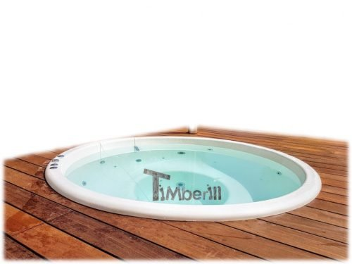 Sunken Inground Built In Hot Tub Jacuzzi TimberIN