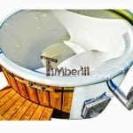 Fiberglass Lined Hot Tub With Integrated Burner Thermo Wood TimberIN Main