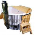 Outdoor garden hot tub wood fired