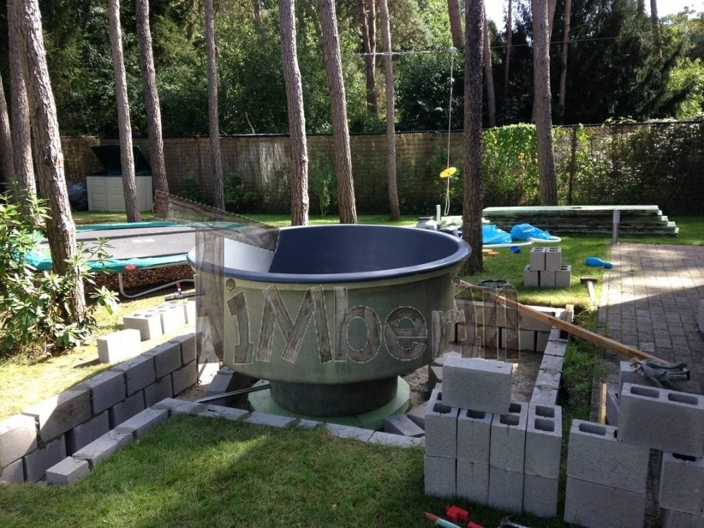 Wood fired electrically heater hot tub sunken built in Fiberglass garden tubs