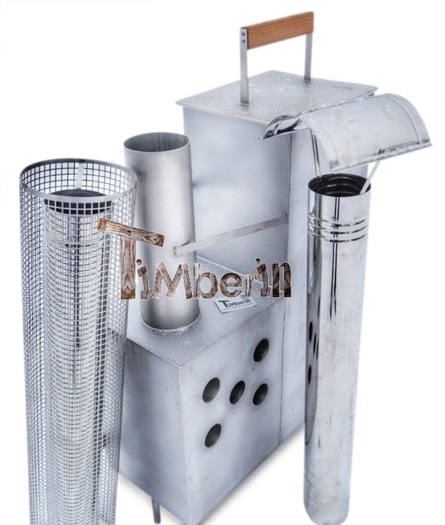 Wood fired hot tub heater - Snorkel Model - TimberIN