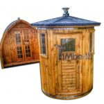 Vertical standing outdoor woodn sauna1
