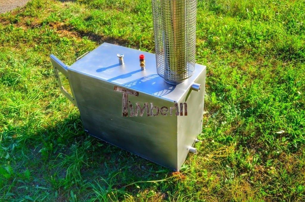 External Wood Heated Spa Heater Rectangular Model Timberin