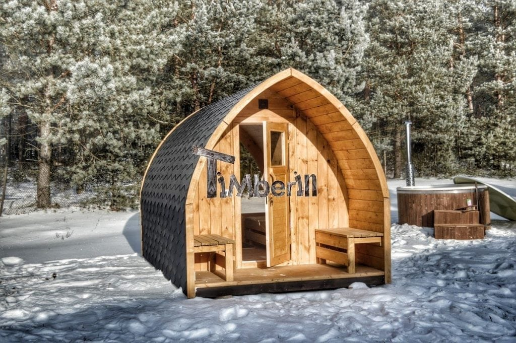 outdoor garden sauna igloo design timberin. Black Bedroom Furniture Sets. Home Design Ideas