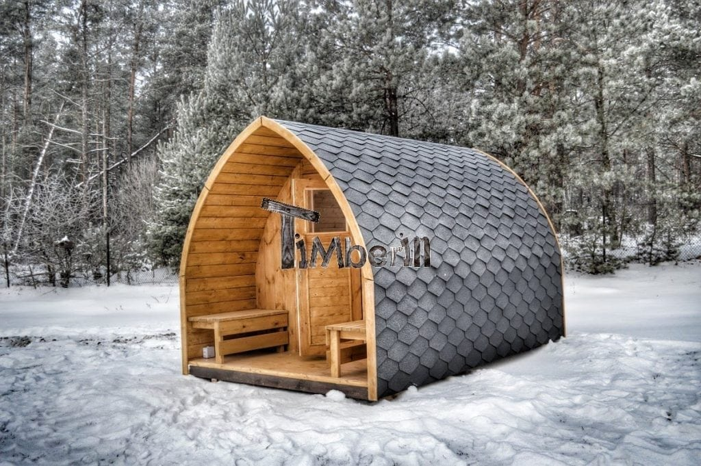 Outdoor garden sauna igloo design timberin for Four bois exterieur