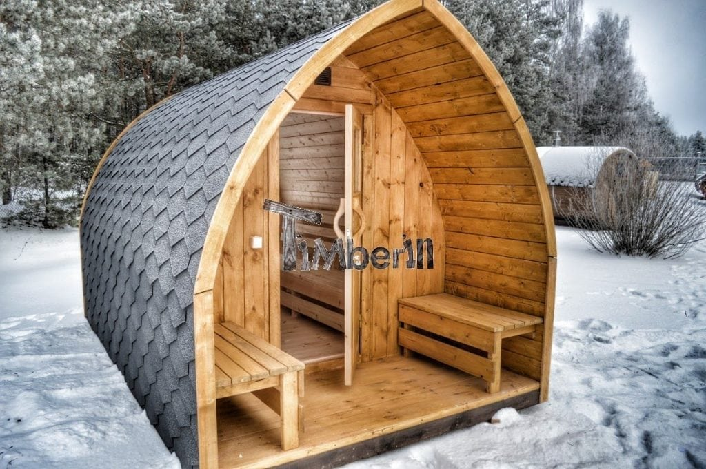 Outdoor garden sauna igloo design timberin for Sauna plans
