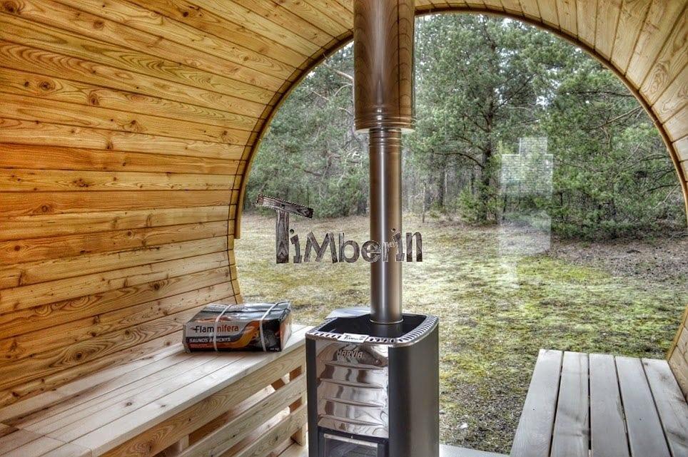 Round Barrel Wooden Garden Sauna For Sale Timberin