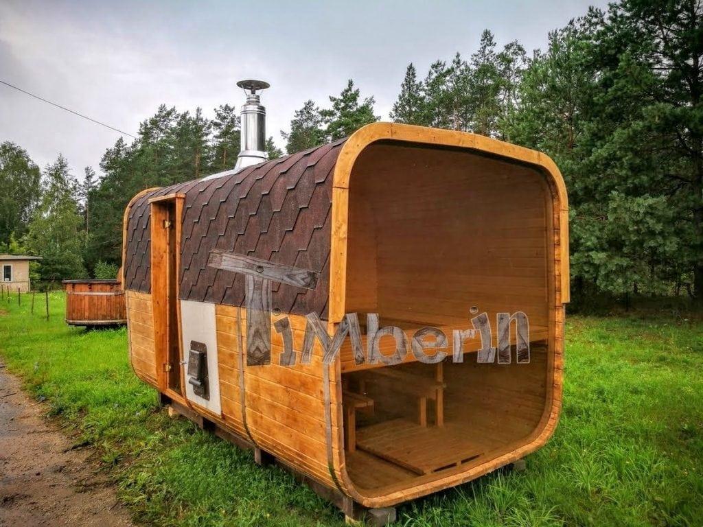 Rectangular Outdoor Garden Wooden Sauna Timberin