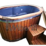 2 person wooden hot tub fiberglass liner