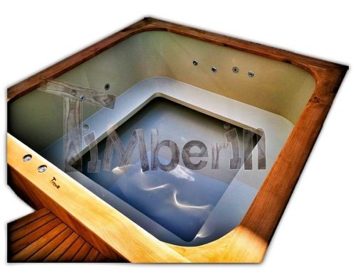 Rectangular hot tub polypropylene lined [Micro pool Deluxe]