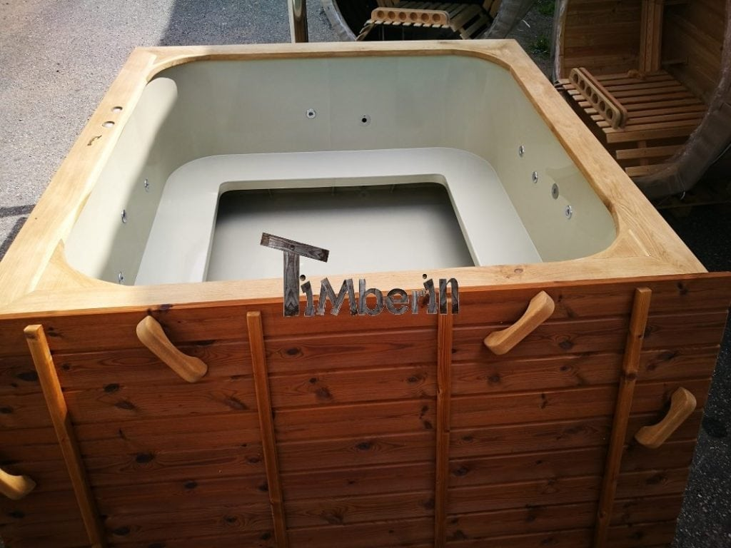 Rectangular Hot Tub Polypropylene Lined Micro Pool Deluxe