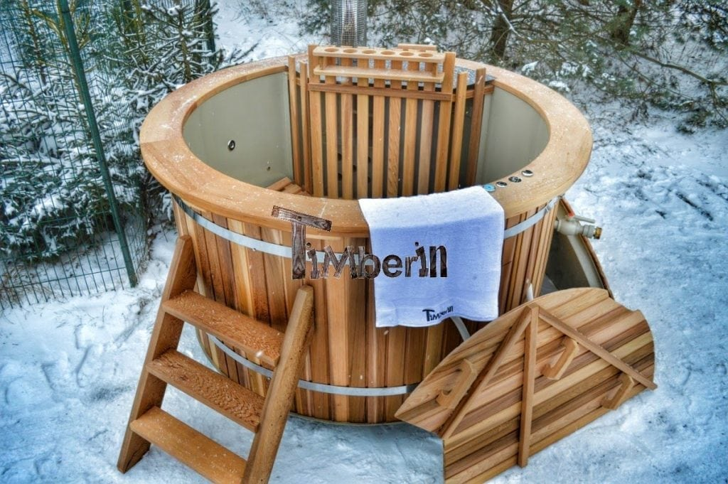 Wood Burning Hot Tub Canadian Red Cedar Timberin