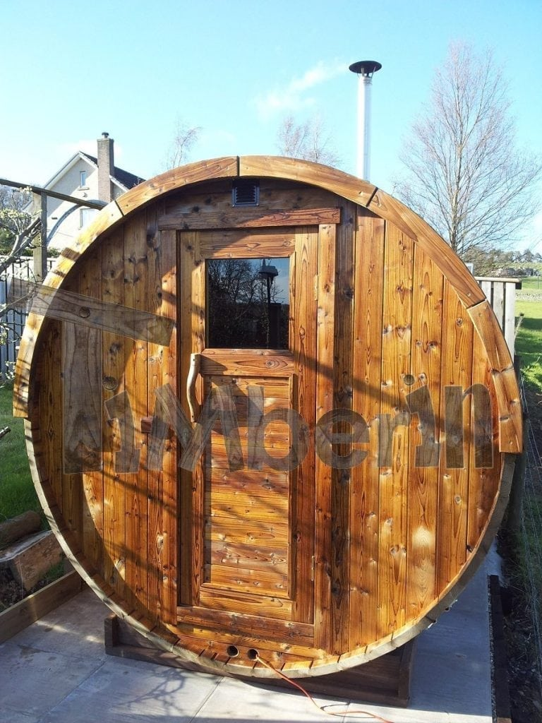 Outdoor barrel sauna Galashiels UK 4