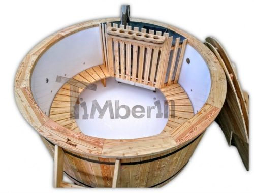 Outdoor garden hot tub jacuzzi with polypropylene liner