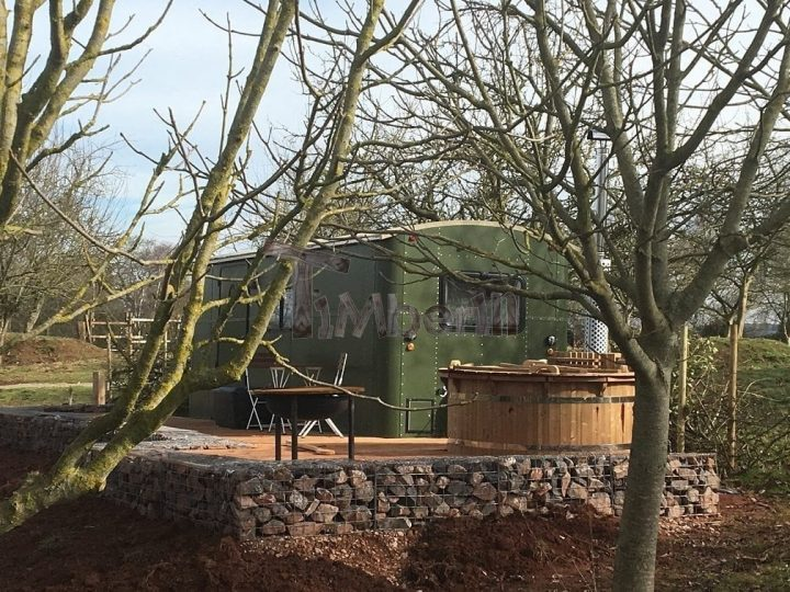 Wooden Outdoor Spa In Thermowood Deluxe, Yonder Devon, United Kingdom