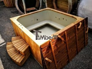Wood Fired Burning Hot Tub For 16 Persons Rectangular