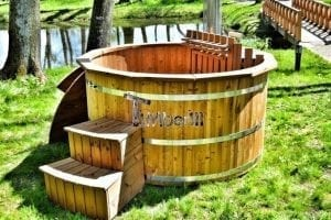 wooden hot tub uk ireland scotland france with snorkel wood fired heater