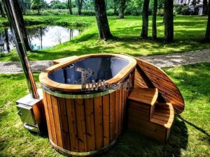 Wood Fired Hot Tub For 2 Persons With External Heater