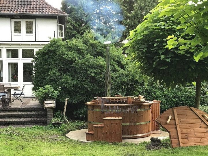 Wooden Outdoor Spa In Thermowood Deluxe, Jeroen , Enschedends, The Netherlands2