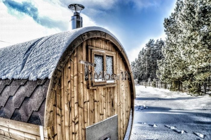 Garden Wooden Barrel Sauna Scotland
