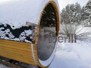 Outdoor Garden Wooden Sauna Kits Diy With Panoramic Windoe