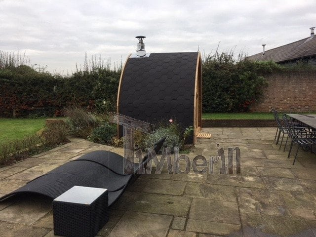 "2 m small outdoor sauna Iglu with wood-fired ""Harvia"" heater, Peter Gales, Hertfordshire, UK"