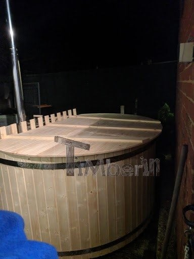 Wooden hot tub, basic model, self-assembly kit, Simon, Essex, UK