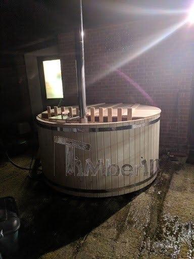 wooden hot tub basic model self assembly kit simon essex uk 2