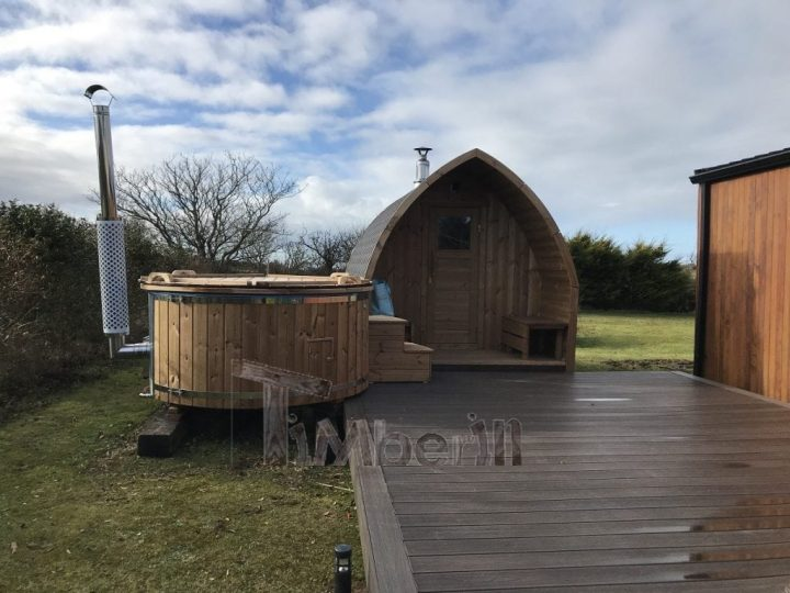 Outdoor Sauna Iglu + Wood Fired Hot Tub With Integrated Wood Burner, Wellness Royal, Paul, Sligo, Ireland (2)