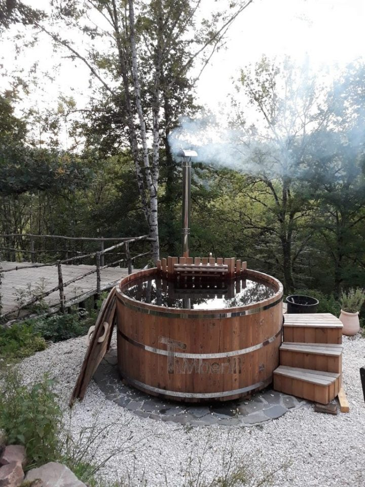 Wooden Hot Tub Thermo Wood Basic, Lucy, Banhars, France (1)