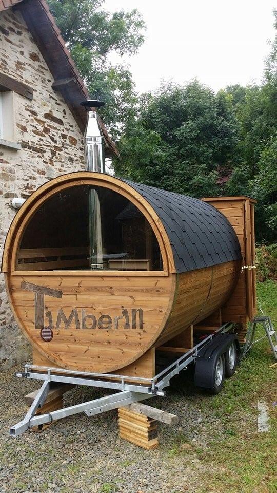 Outdoor Barrel Round Sauna Julien Limousin France 1