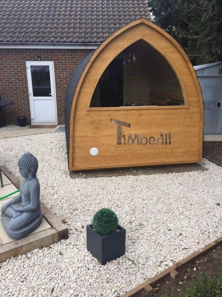 Outdoor Garden Igloo Sauna, Darren, Worlington, U.K. (1)