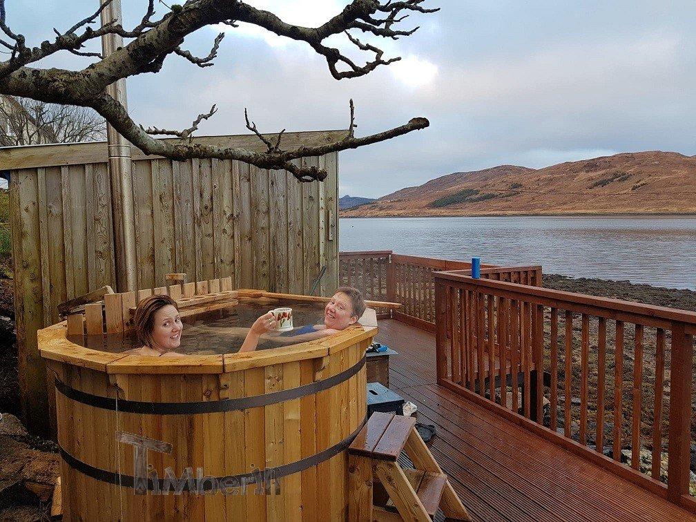 WOODEN HOT TUB DELUXE DESIGN Stuart Isle of Skye U.K 3