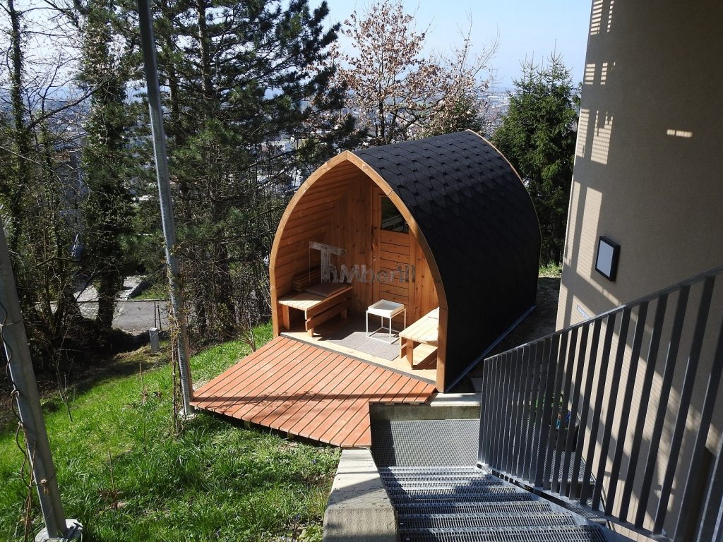 Wood Outdoor Igloo Sauna Stephan Schwarzach Austria