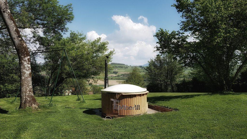 Wellness Royal fiberglass hot tub with internal heater Samuel PALADRU France