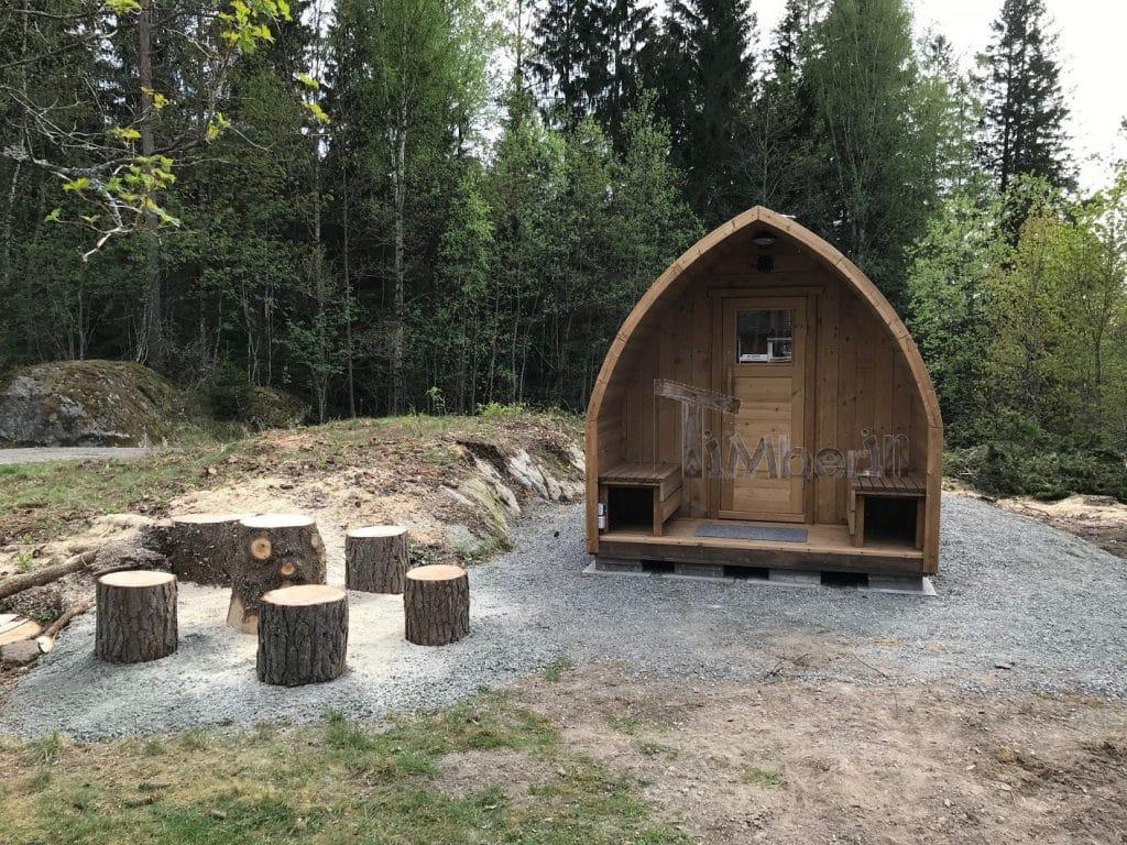 Outdoor garden wooden igloo sauna Michael Färgelanda Sweeden 3