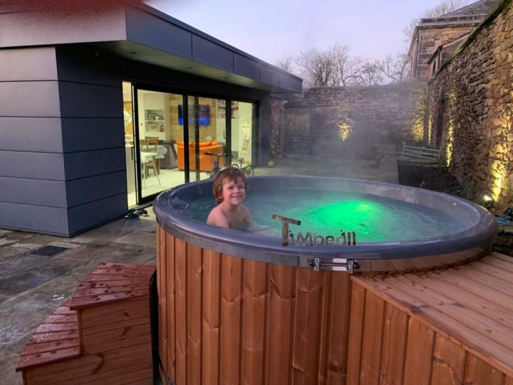 Fiberglass Lined Hot Tub With Integrated Burner Thermo Wood [Wellness Royal], Alex, Chorley, UK (1)