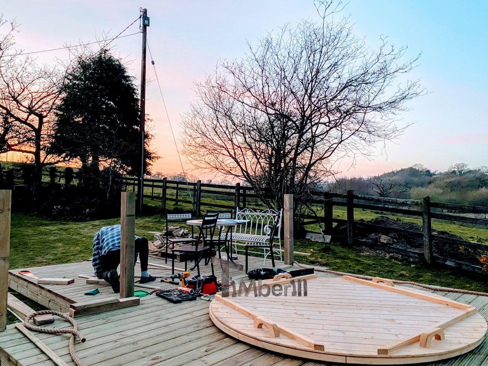 Sunken terrace fiberglass Jacuzzi Ryan Launceston United Kingdom 2