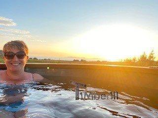 Fiberglass hot tub with snorkel heater Wellness Basic Rachel Portree United Kingdom 3 1
