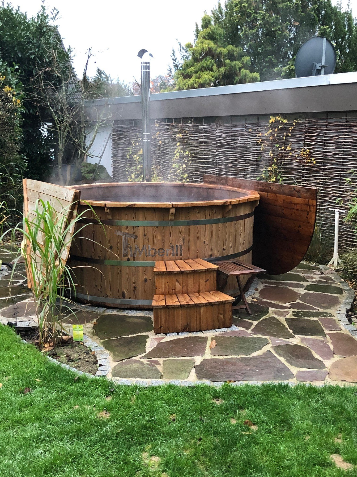 Wooden hot tub possible with jets Deluxe thermowood Cornelia Ratingen Germany 1