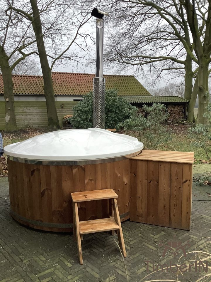 Outdoor jacuzzi hot tub wood fired 4 6 persons with snorkel burner, eric, hulten, netherlands (1)