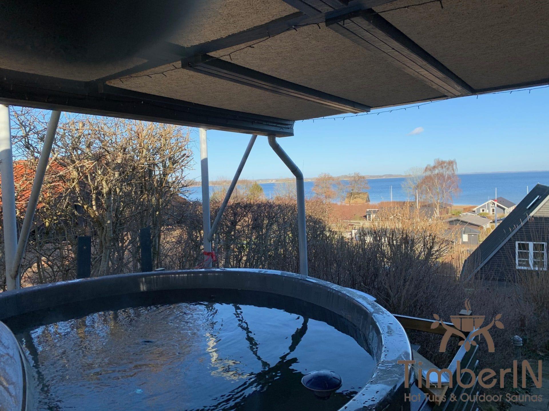 Sunken inground built in hot tub jacuzzi Kim Sjolund Denmark 7