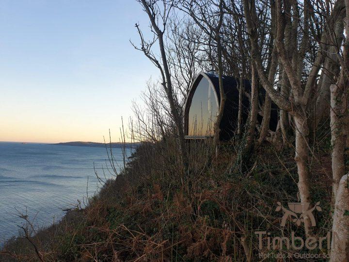 Outdoor garden sauna igloo design, robert, shaldon, united kingdom (1)