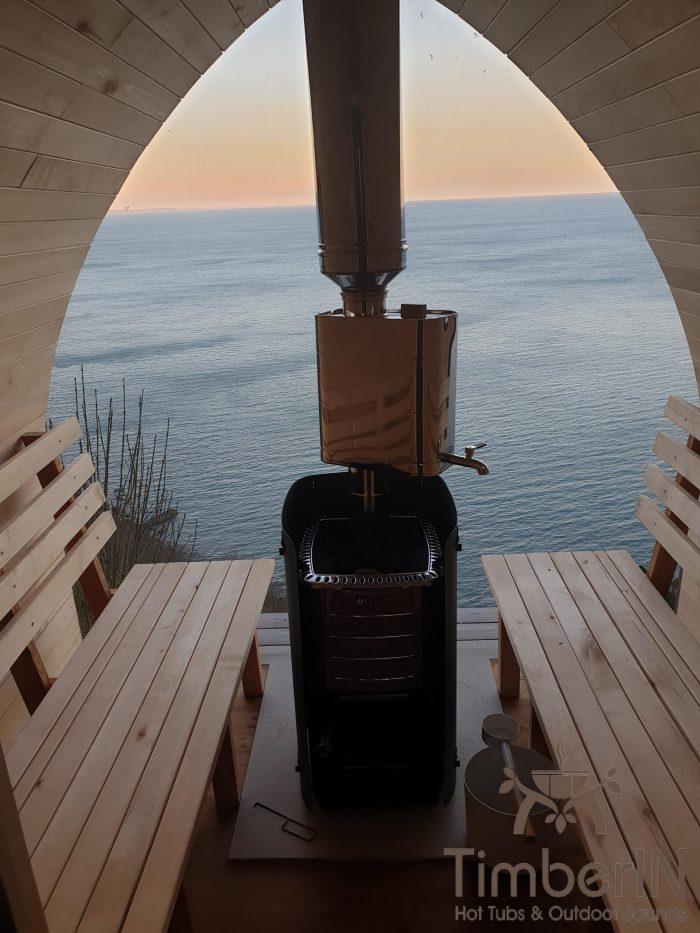 Outdoor garden sauna igloo design, robert, shaldon, united kingdom (2)