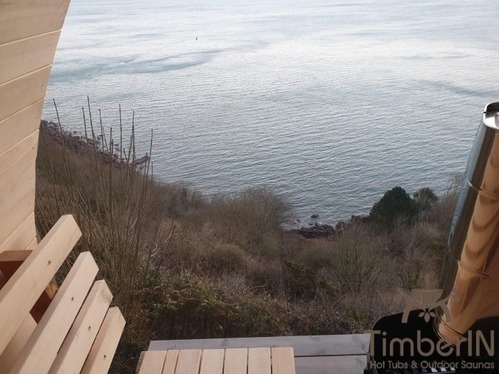 Outdoor garden sauna igloo design, robert, shaldon, united kingdom (3)