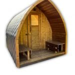 Outdoor sauna pod iglu
